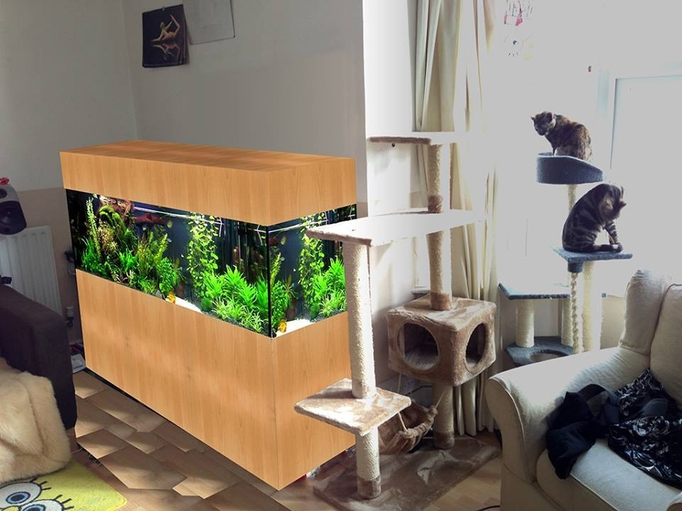Concept image of the 6 foot aquariums