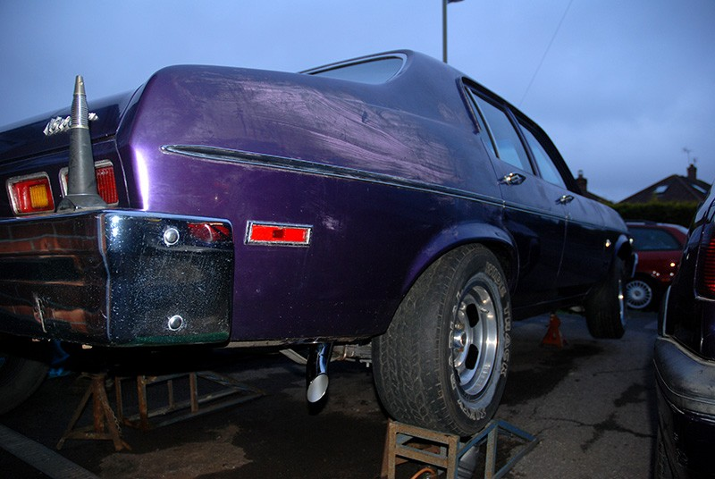 Chevy Nova with new standard exhaust fitted