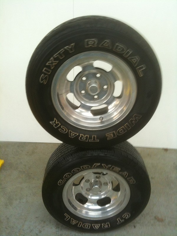 Cleaned Chevy Nova wheels